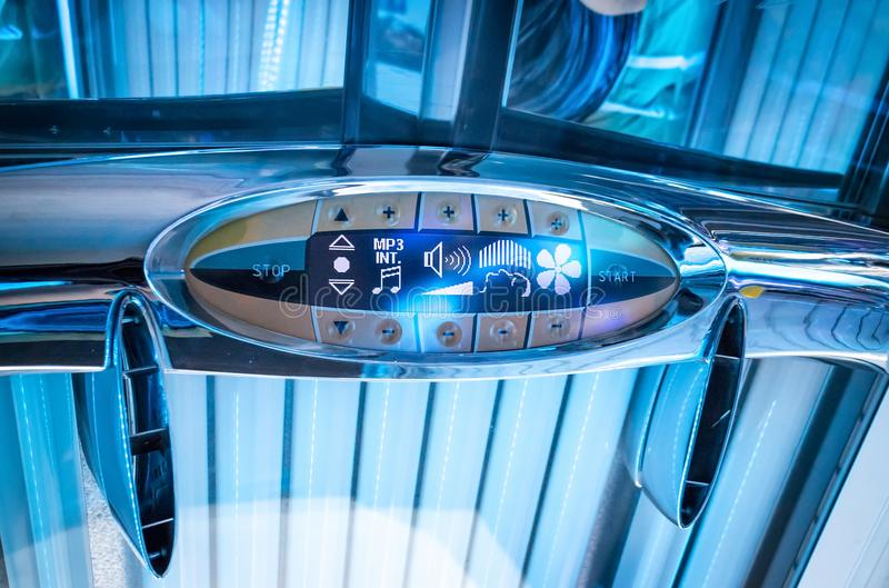 Tanning bed details royalty free stock photography