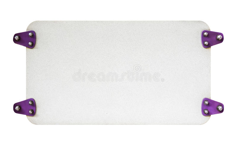 White empty signboard, free space stock photography