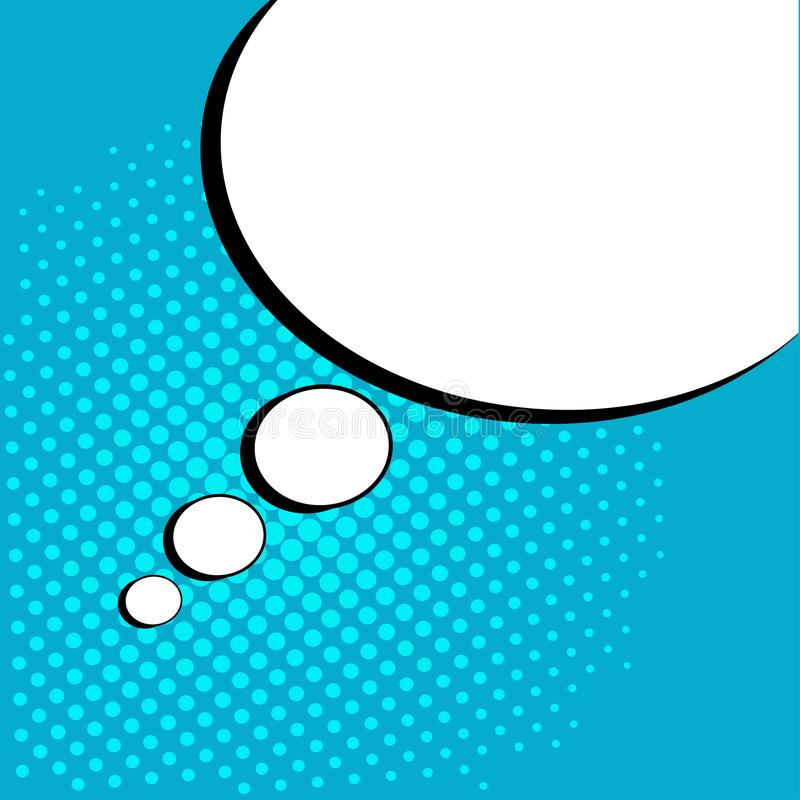 White empty speech comic bubble with dots. Vector illustration in pop art style royalty free illustration