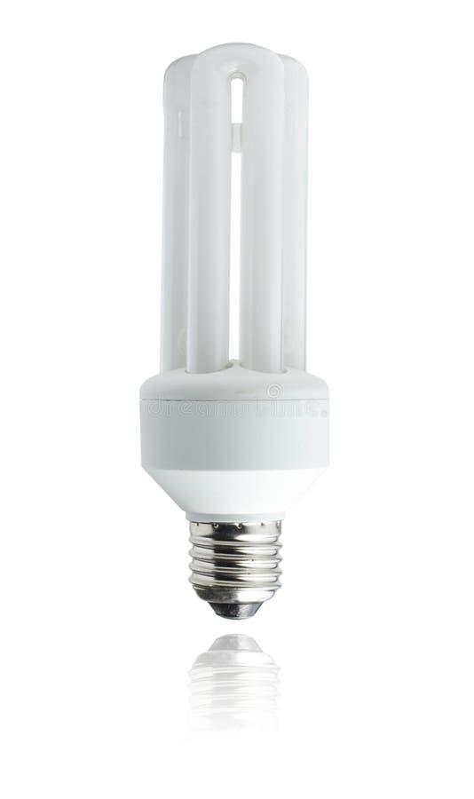 White energy saver bulb stock images