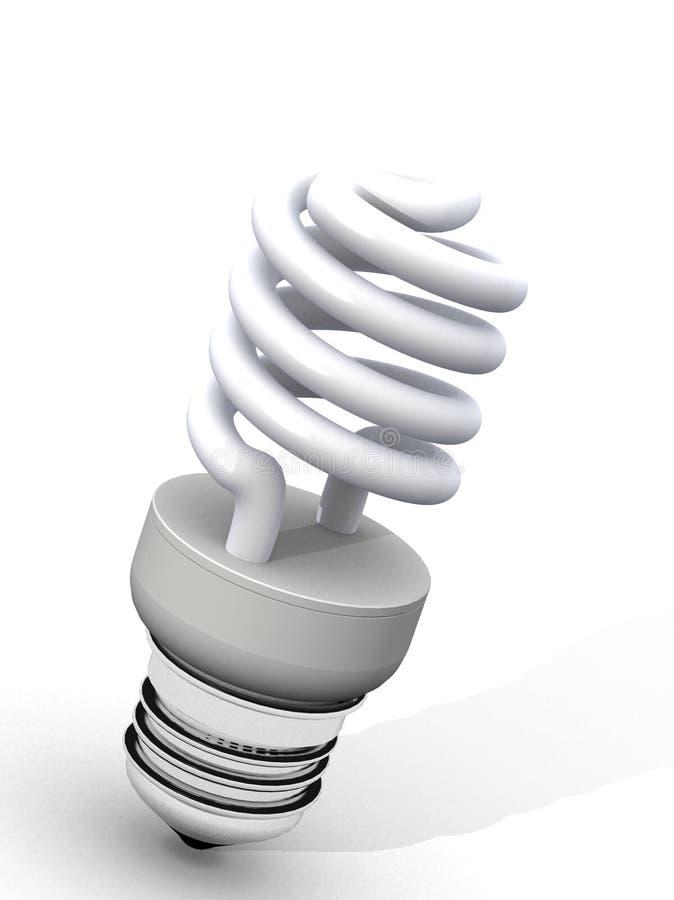 White energy saver light bulb stock image
