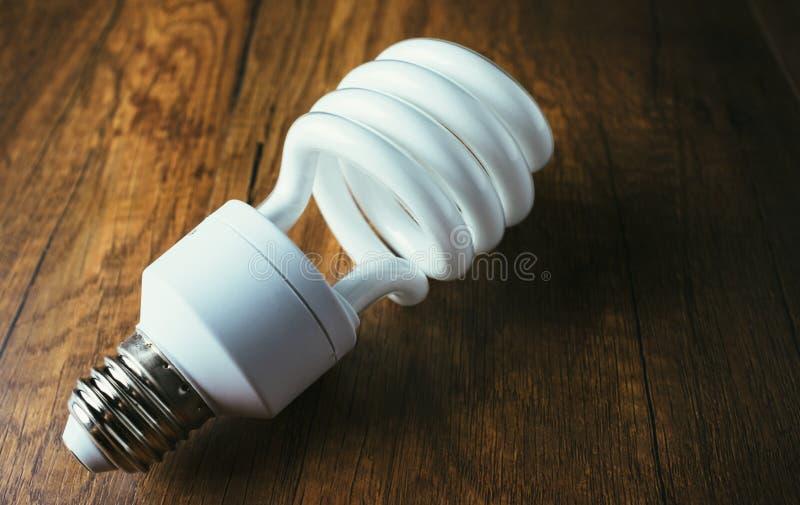 White energy saving bulb stock images