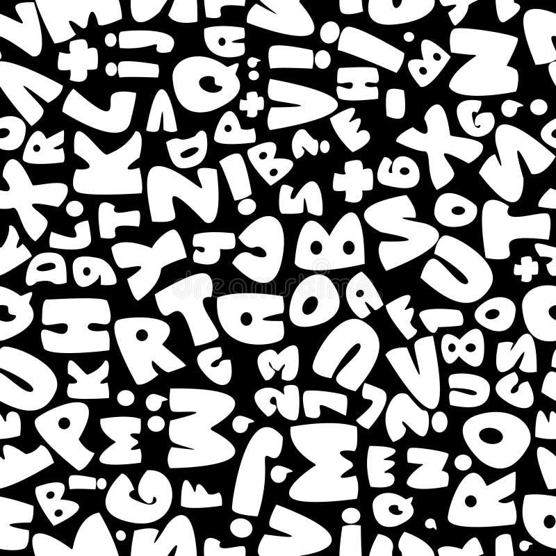 White english alphabet seamless pattern stock illustration
