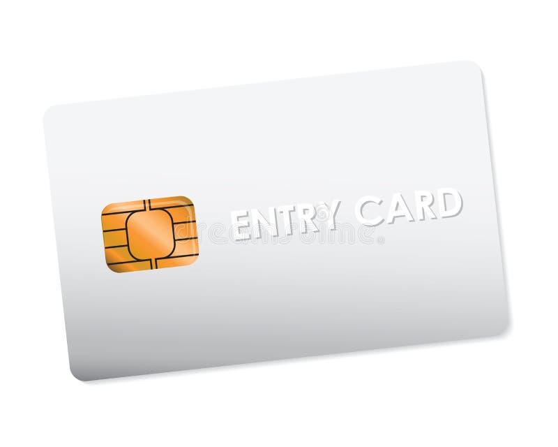 White entry card vector illustration