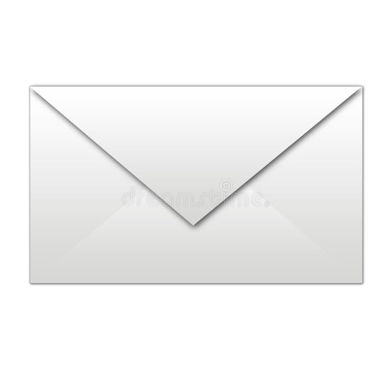 White envelope isolated royalty free illustration