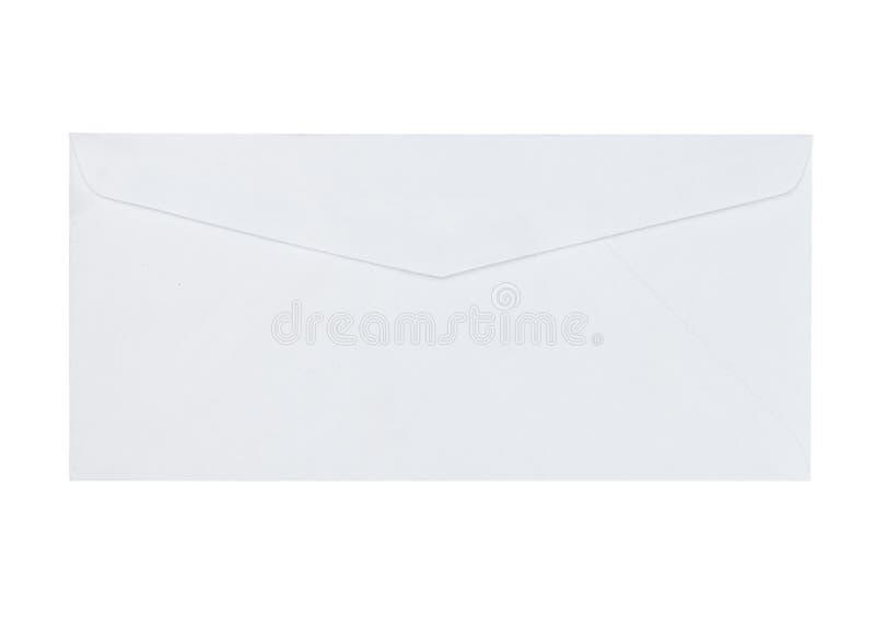White envelope isolated on white background stock images