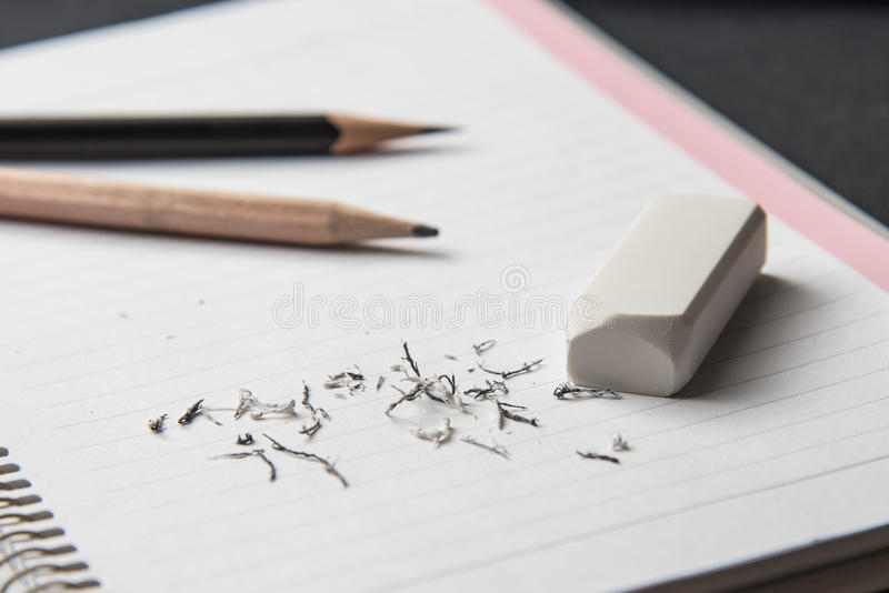 White eraser stock photo