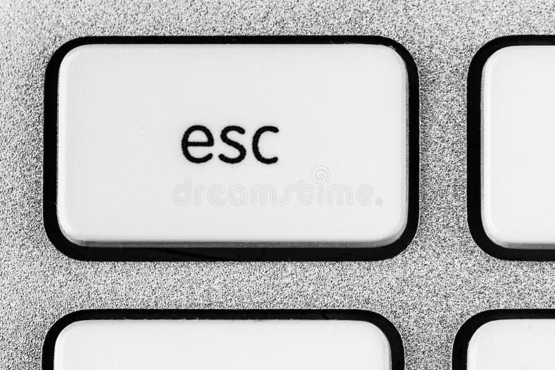 White ESC button stock photography