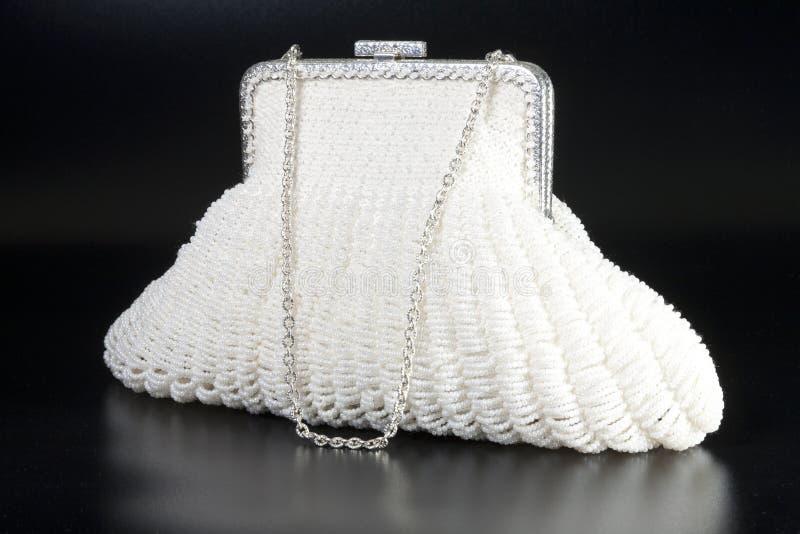 White evening bag royalty free stock photos