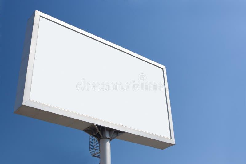 white för annonseringbillbräde royaltyfri foto