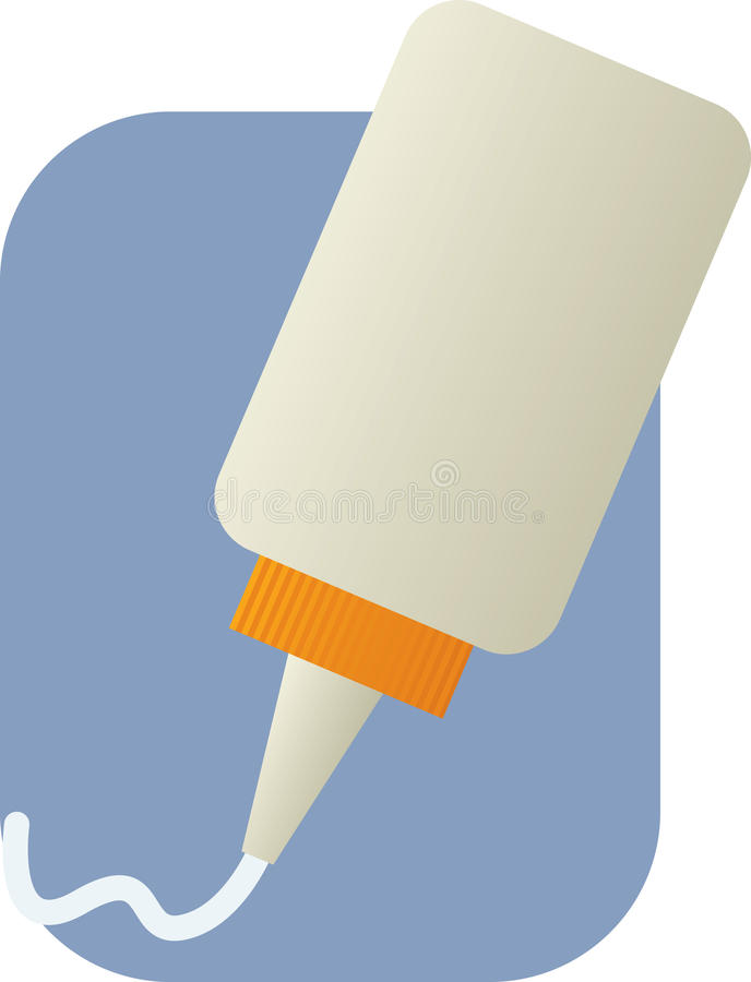 white för applikatorflasklim stock illustrationer