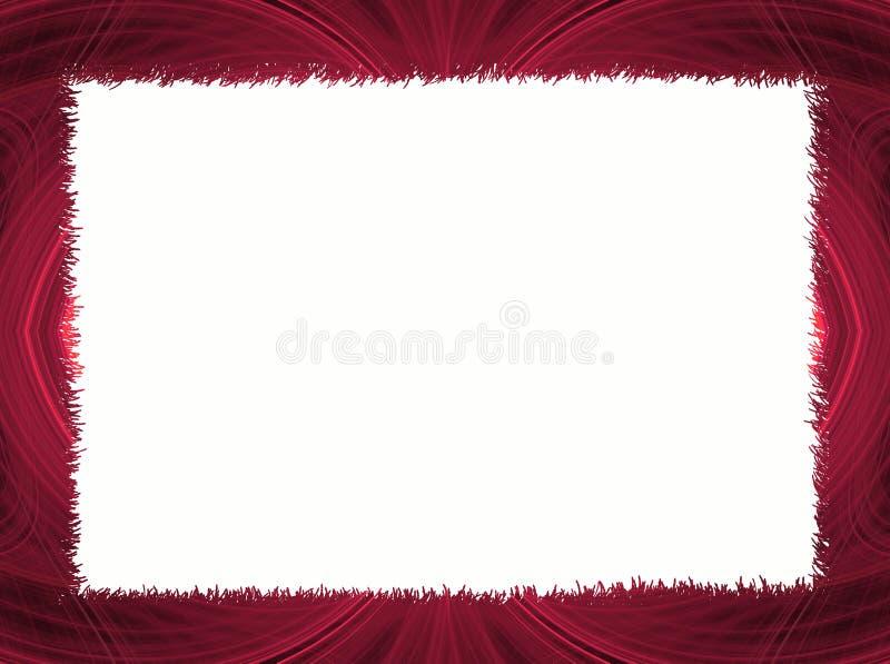 white för avstånd för kantkopieringsfractal röd vektor illustrationer