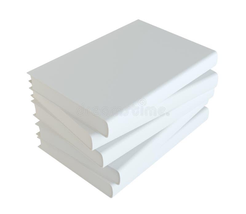 white för bakgrundsbokbunt royaltyfri illustrationer