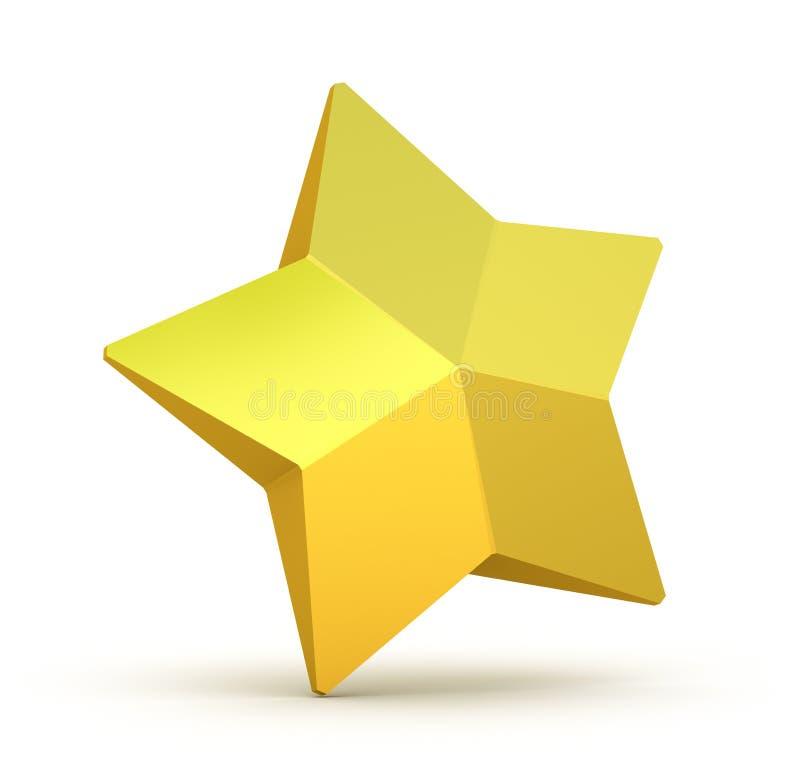 white för bakgrundsguldstjärna royaltyfri illustrationer
