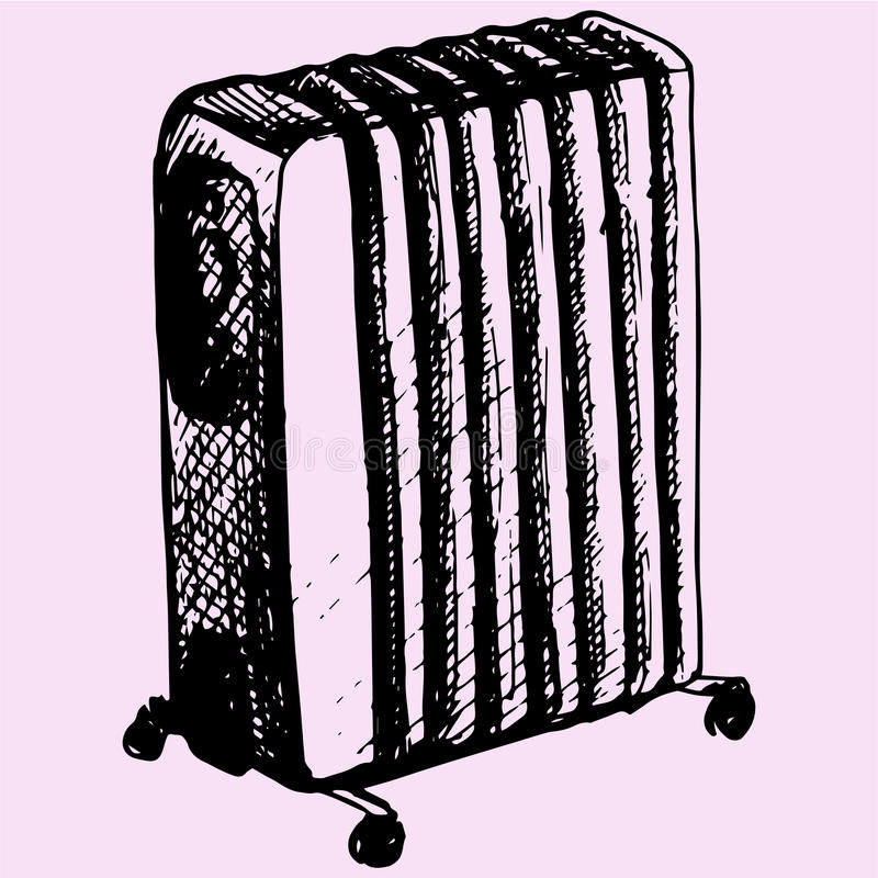 white för bana för olja för bakgrundsclipping värmeapparat isolerad stock illustrationer