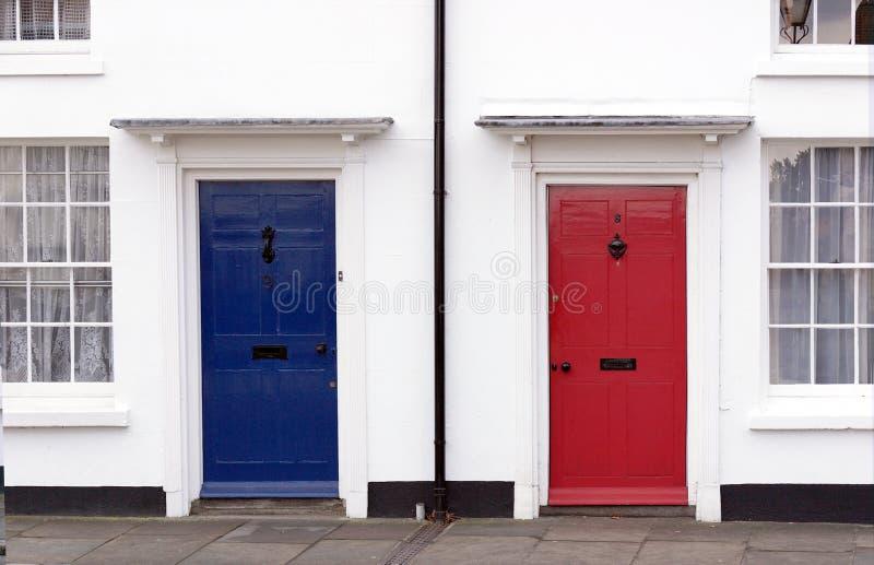 white för blå red arkivfoto