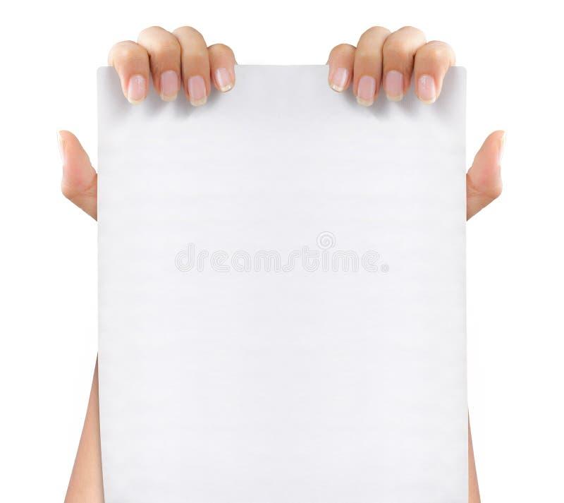 white för blankt papper royaltyfria foton
