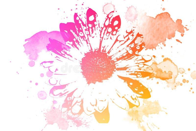 white för blommaskogfjäder vektor illustrationer