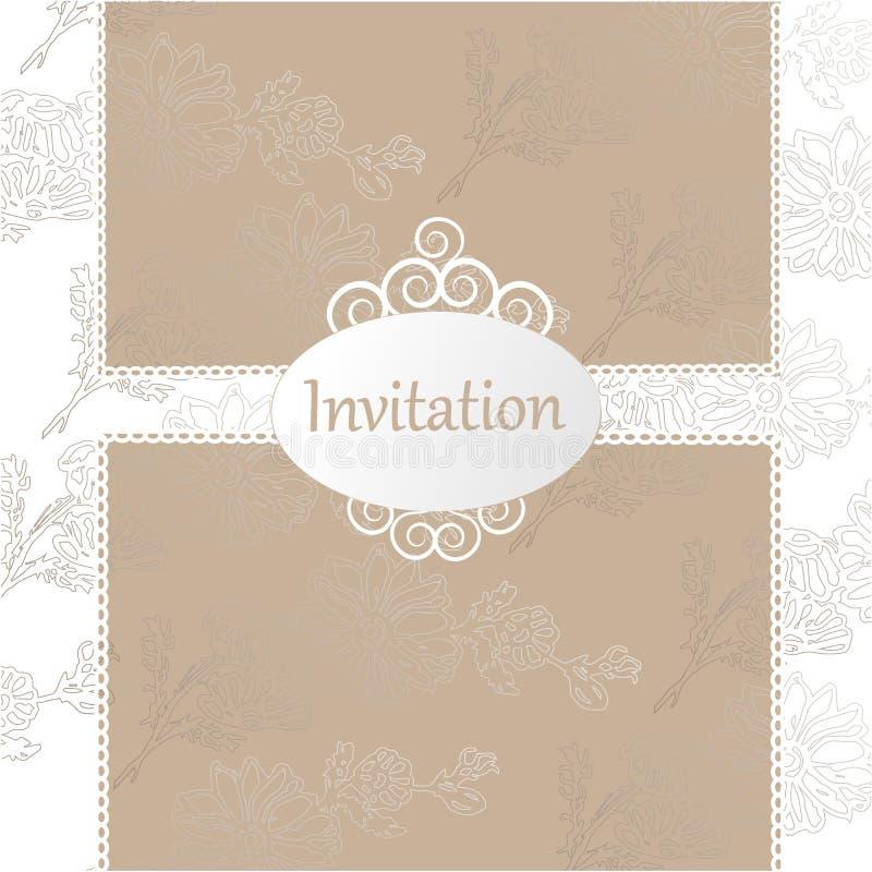white för bröllop för vektor för inbjudan för bakgrundskortteckningar vektor illustrationer