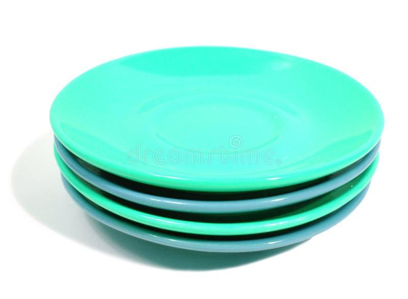 white för bunt för plattor för blå green för bakgrund arkivfoto