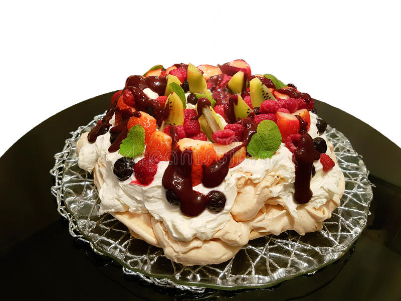 white för cakefruktisolering royaltyfria foton