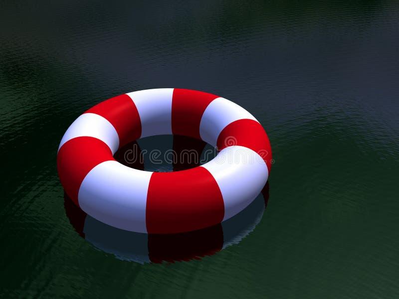 White För Cirkel För Guardlivstid Röd Royaltyfria Bilder