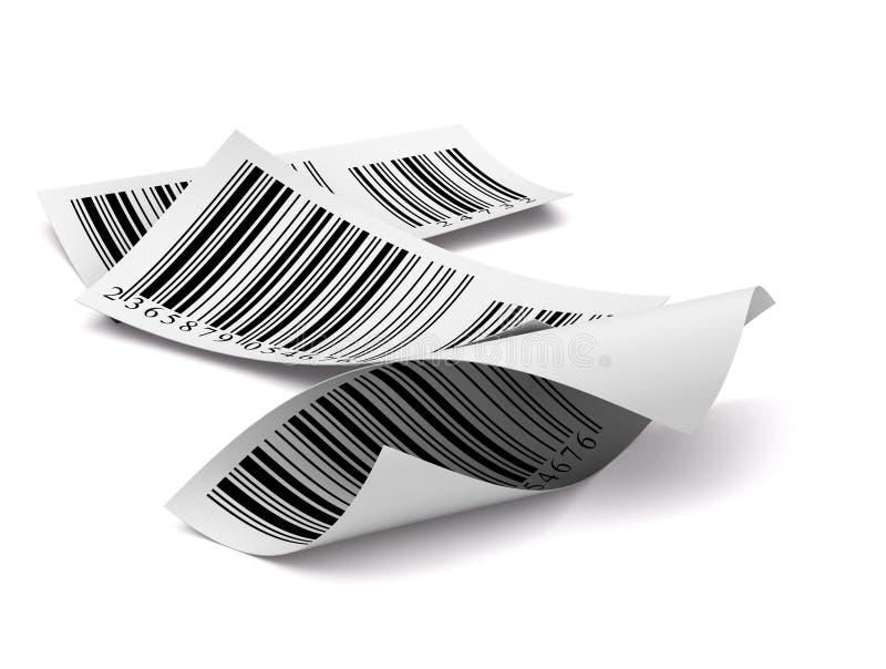 white för etikett för barcodesetikett mångfärgad arkivbild
