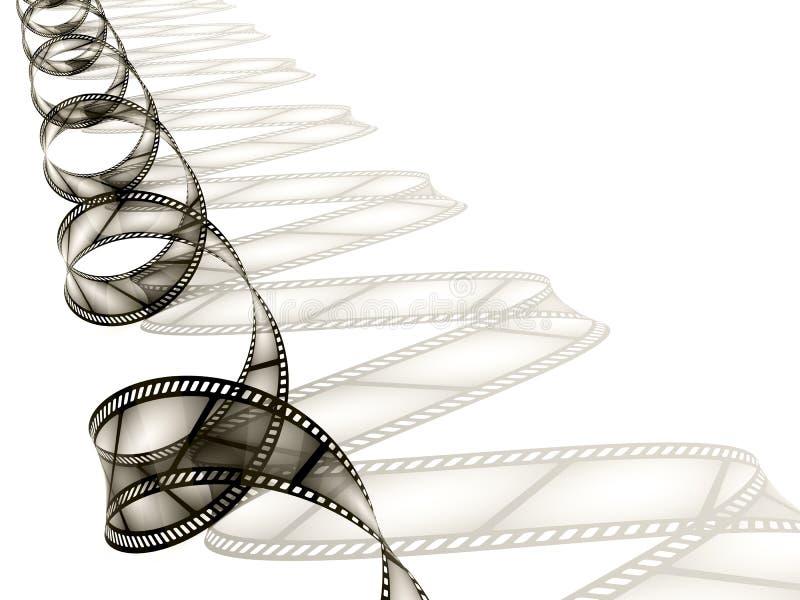 white för filmremsayttersida stock illustrationer
