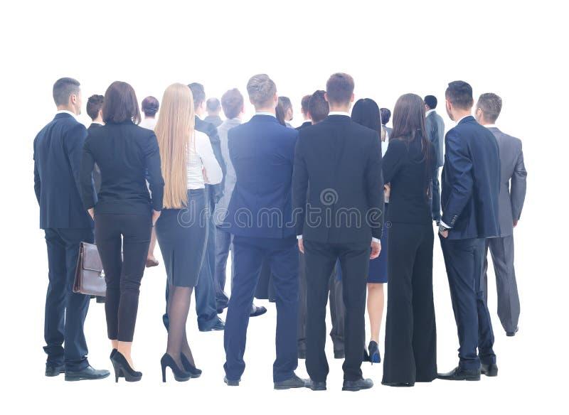white för folk för bakgrundsaffärsgrupp stor over Över vitbakgrund royaltyfri foto