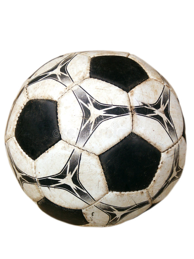white för fotboll för bakgrundsboll smutsig isolerad gammal arkivfoton