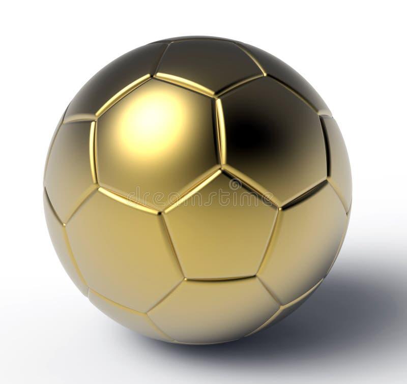 white för fotboll för guld för boll 3d bild isolerad stock illustrationer