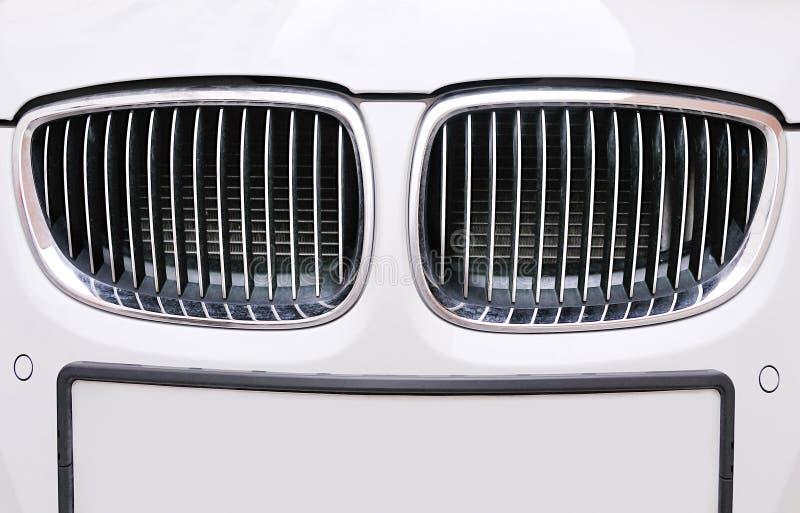 white för galler för bmw-bilframdel arkivfoton