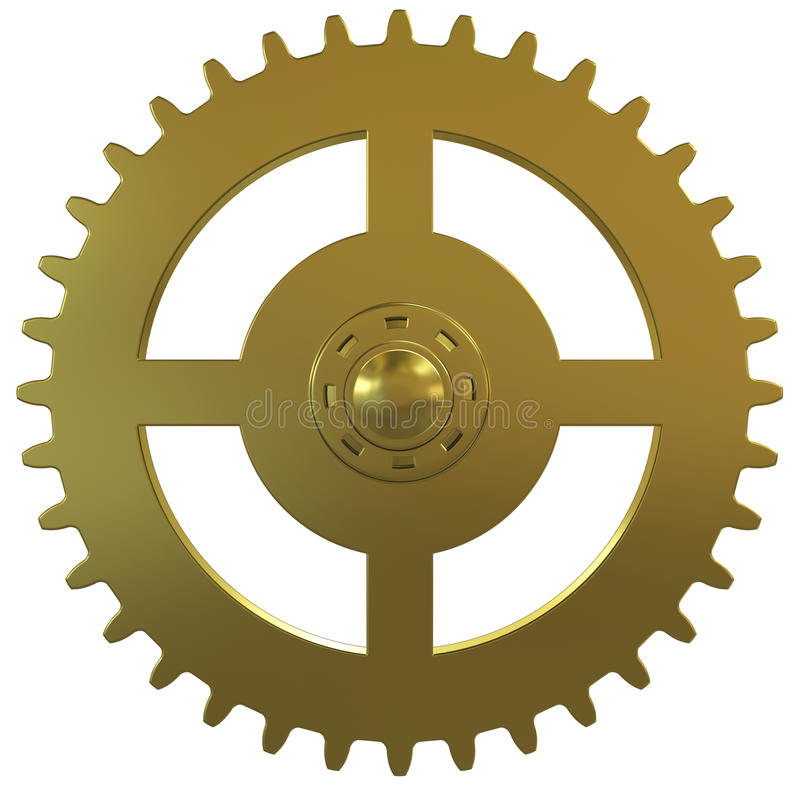 white för guld för bakgrundsklockakugghjul vektor illustrationer
