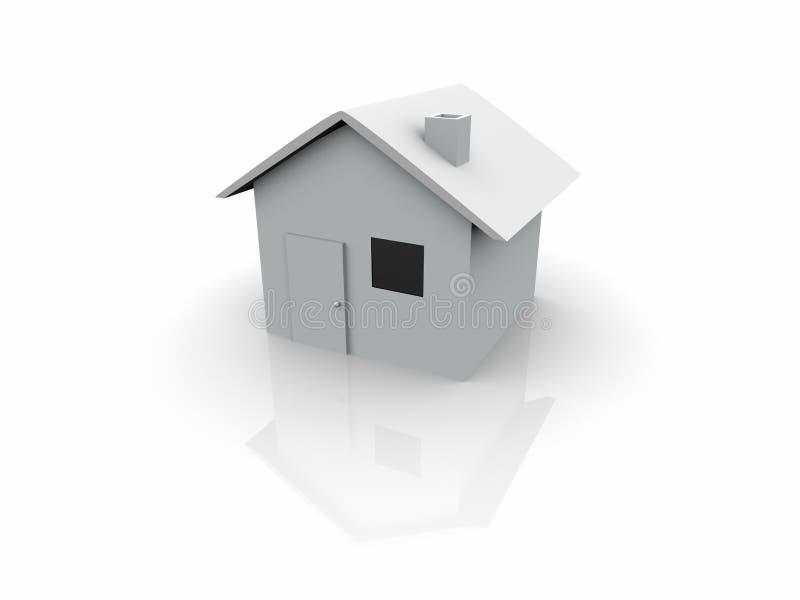 white för hus 3d stock illustrationer