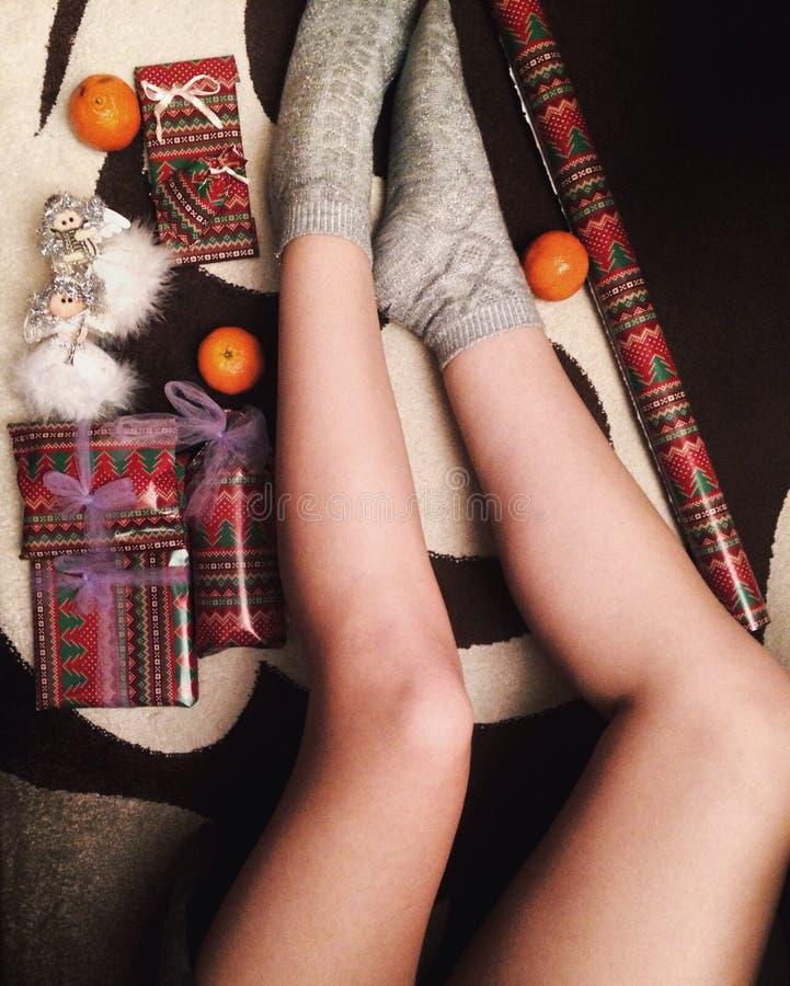 white för julgåvaisolering royaltyfri bild