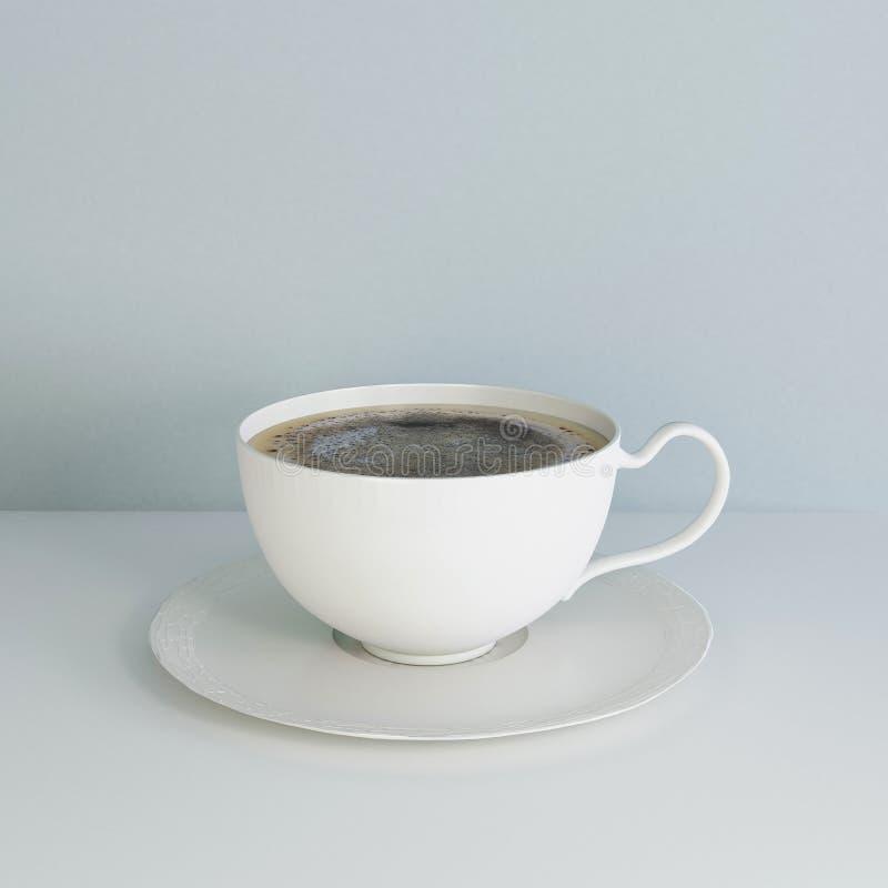 white för kaffekopp arkivfoton
