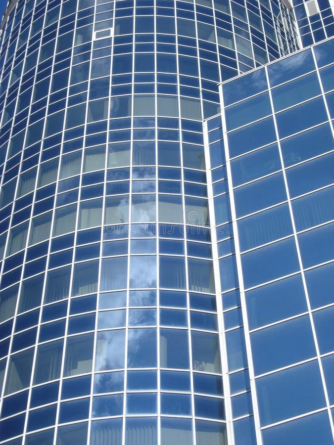 white för kontor för bakgrundsbyggnadsfragment exponeringsglas isolerad arkivbild