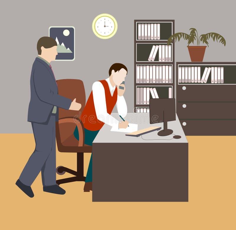 white för kontor för livstid för bild för bakgrund 3d vektor illustrationer
