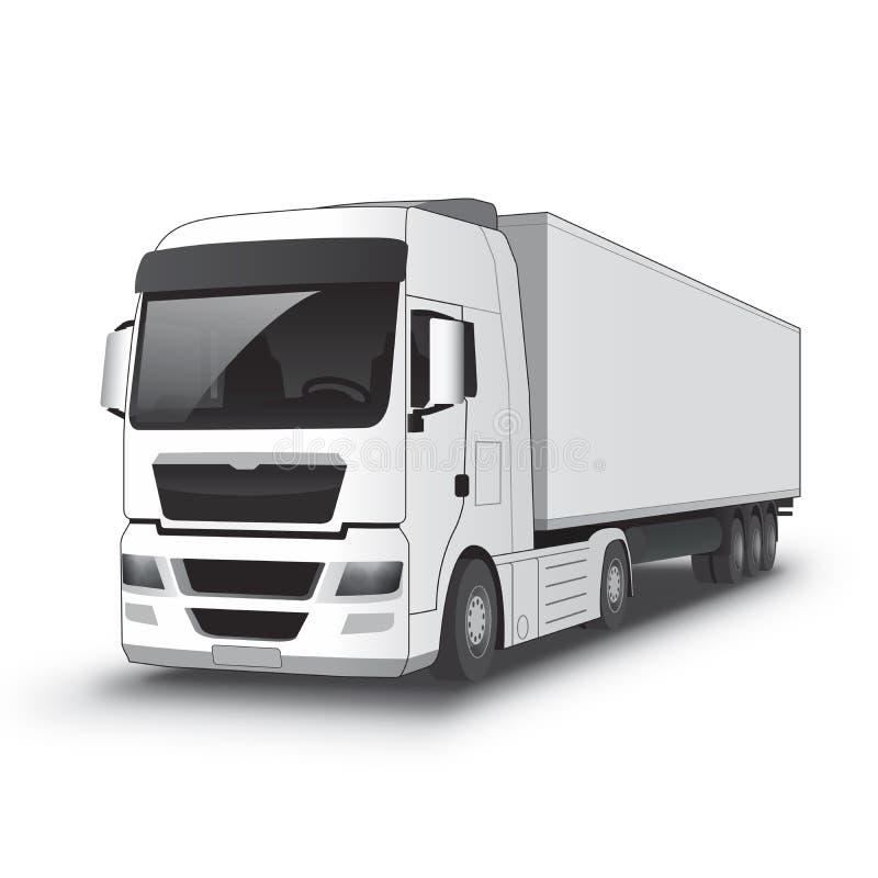 white för lastbil för annonseringmapp god royaltyfri illustrationer