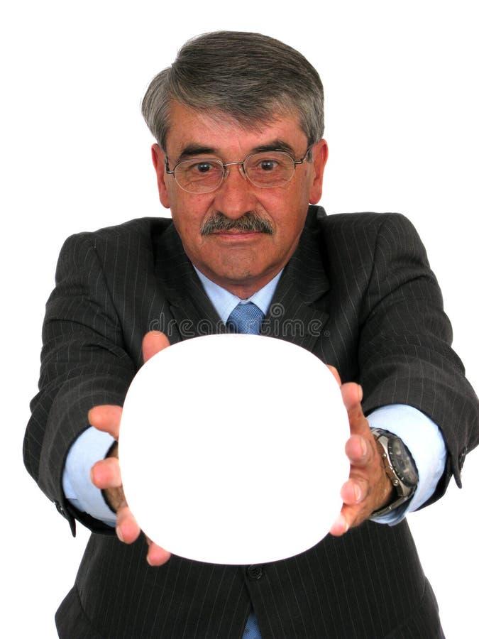 white för man för baneraffärsholding royaltyfria foton