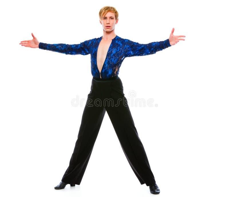 white för manlig för bakgrundsbalsaldansare posera arkivfoton