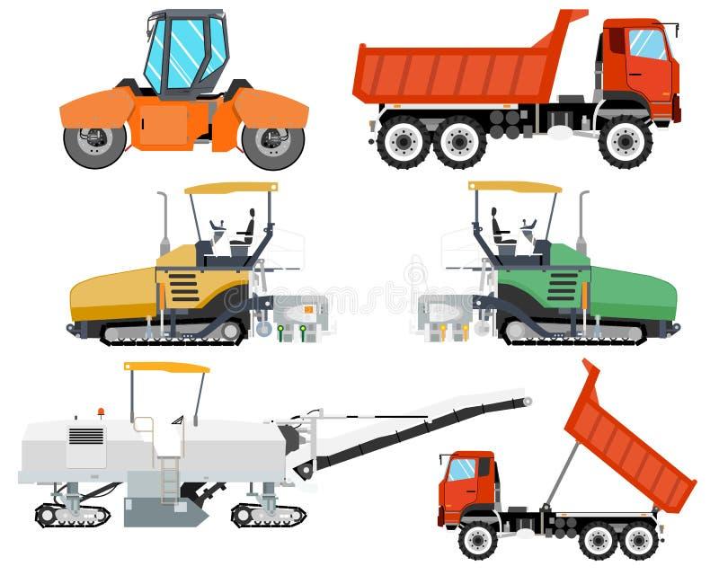 white för objekt för maskineri för bakgrundskonstruktion grävskopa isolerad royaltyfri illustrationer
