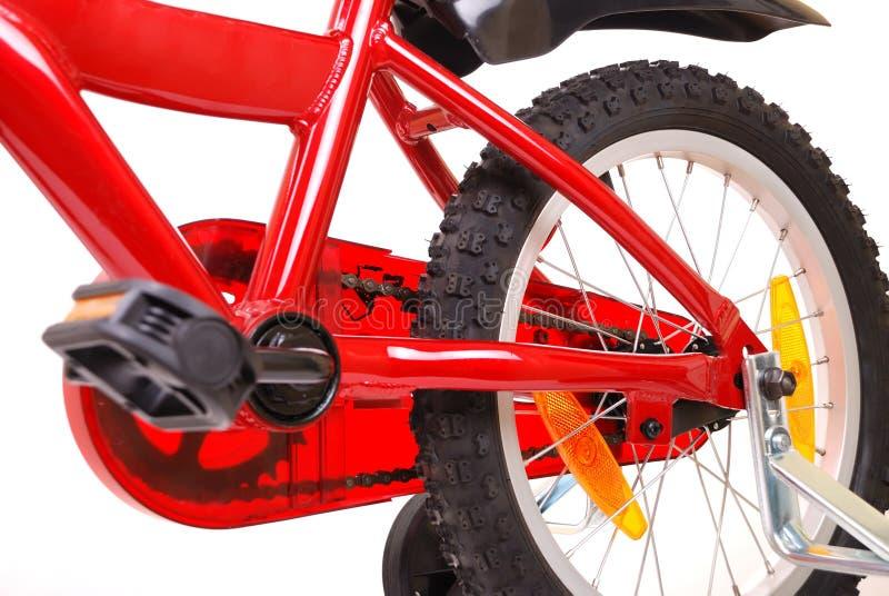 white för red s för cykelbarn ny royaltyfri bild