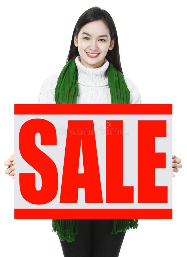 white för shopping för försäljning för bakgrundsjulflicka lycklig arkivfoto