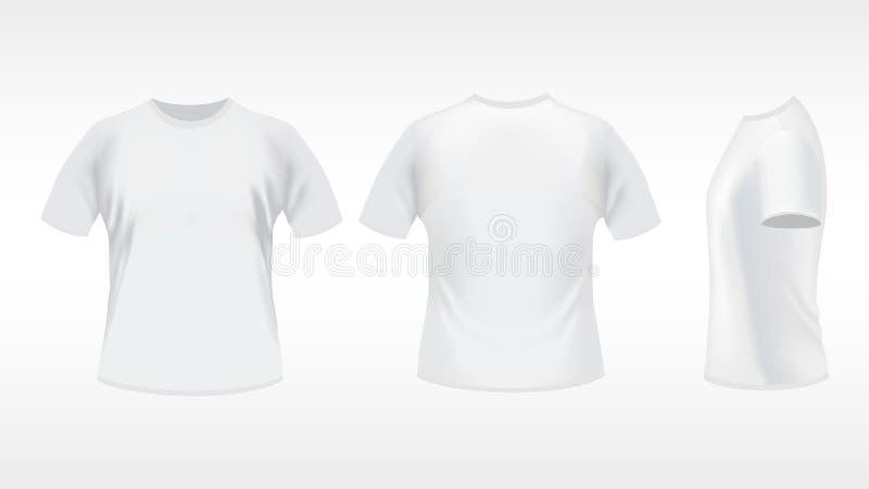 white för skjorta t stock illustrationer