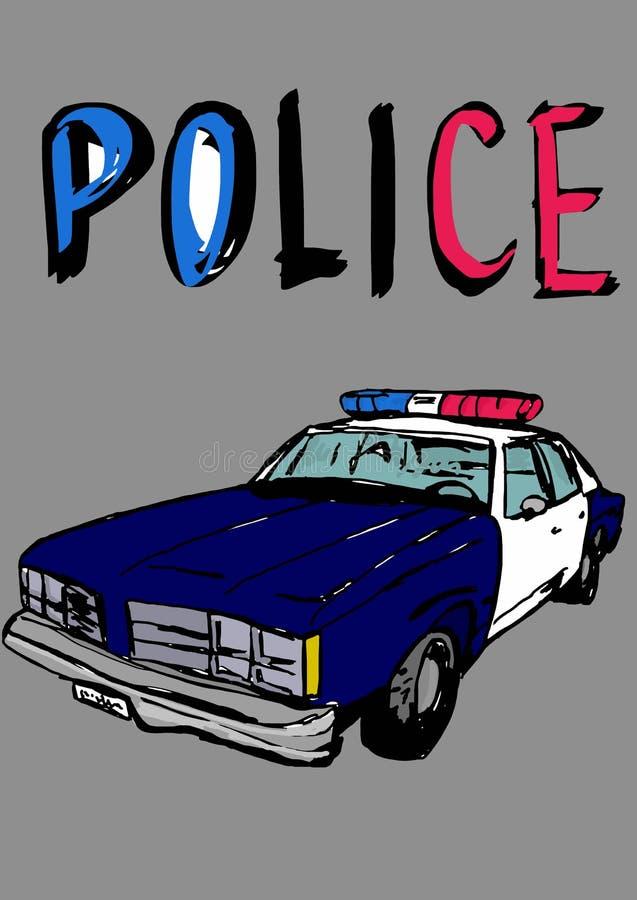 white för stil för polis för bilcartoonish bild isolerad vektor illustrationer