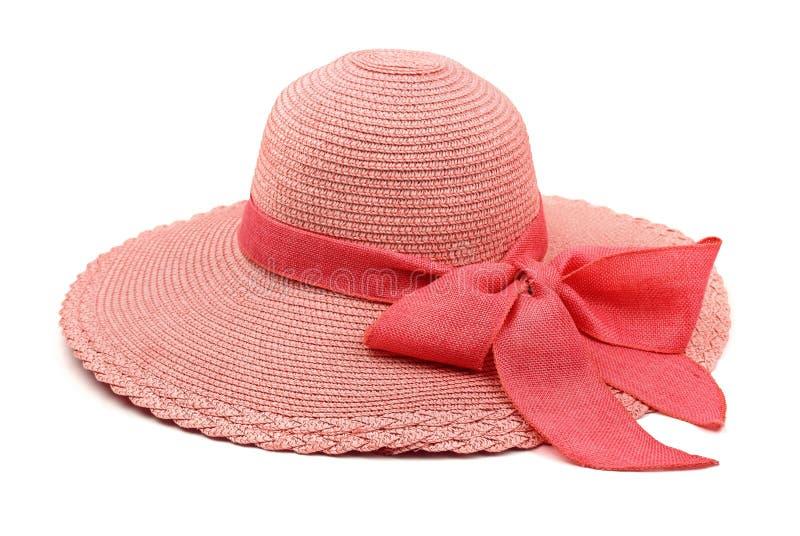 white för sugrör för bana för bakgrundsclipping hatt isolerad arkivbilder