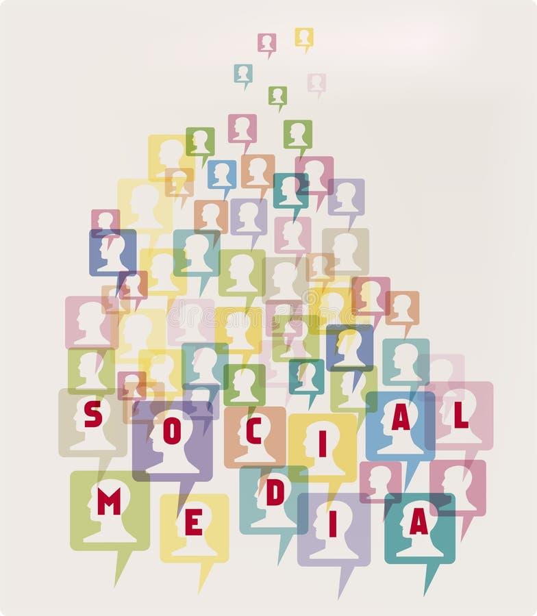 white för tecken för modell för medel 3d social royaltyfri fotografi