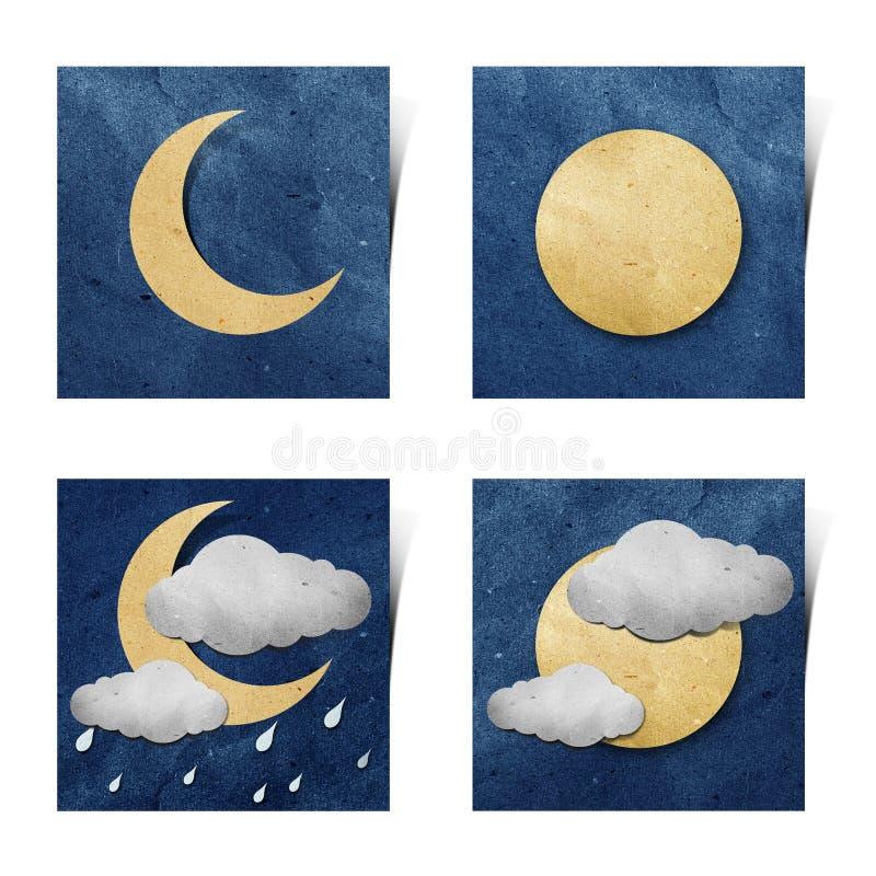 white för väder för stick för hantverkgrunge papper återanvänd royaltyfri illustrationer