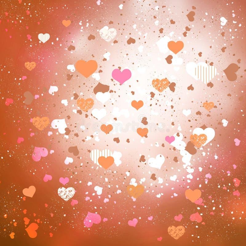 white för valentin för roman s för förälskelse för daghjärtor illustration isolerad stock illustrationer